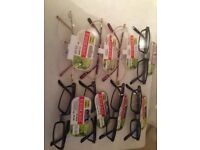 8 pairs of brand new 1.50 foster grants reading glasses