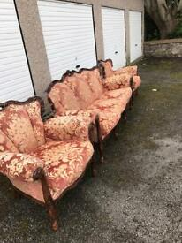 Lovely vintage sofa and two chairs