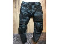 FLINT BIKE LEATHER PANTS ABOUT A 36-38 WAIST