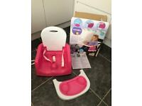 Toddler high chair booster seat, used once!!! Smoke and pet free house