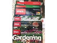 Which? magazine and Which? Gardening x3