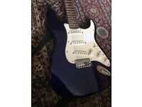 Fender Squire Stratocaster Guitar [Blue] w/ soft case