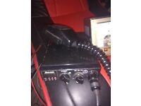 Cb radio with 12 volt power supply