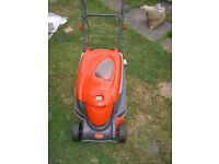 FLYMO 340 Roller compact mower. 340mm cut. Little used, excellent, very good cut, powerful.
