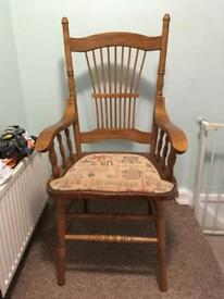 X2 wooden dining chairs