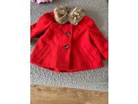 Girls coat 3/6 months