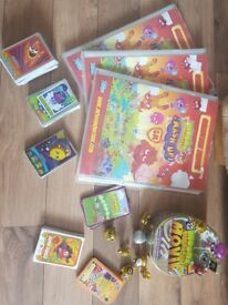 Moshi Monster Bundle of cards, binders, figures and top trump cards