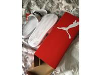 Puma White Sliders Size 9 New