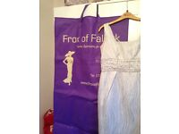 FROX OF FALKIRK DRESS & COAT SIZE 8 TO 10 / CARINA HAT SIVER & GRAY & BLUE / SHOES SIZE 5
