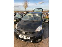Toyota Aygo Black 1.0 5DR A/C 2010. Excellent condition.