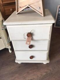 Solid Pine 3 Drawer narrow chest
