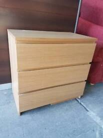 Malm chest of three drawers
