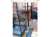 Medium/large bird cage with selection of toys and accessories for sale