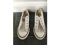 White Convese size 12