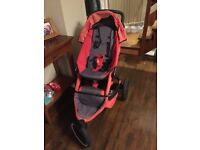 Phil & Teds Sport V2 double buggy including rain cover, moses basket and bag