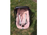 Maxi cosi car seat in pink miami