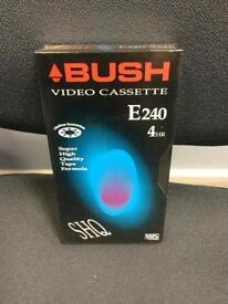 RARE BRAND NEW SEALED BNIB BUSH TV MOVIE FILM E240 VIDEO CASSETTE RETRO VINTAGE 80s SDHC