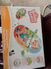 Vibrating baby bouncer