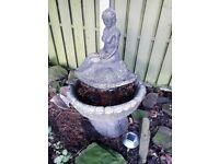 Stone bird fountain