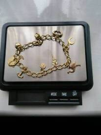 9ct gold charm braclet 5.5grams
