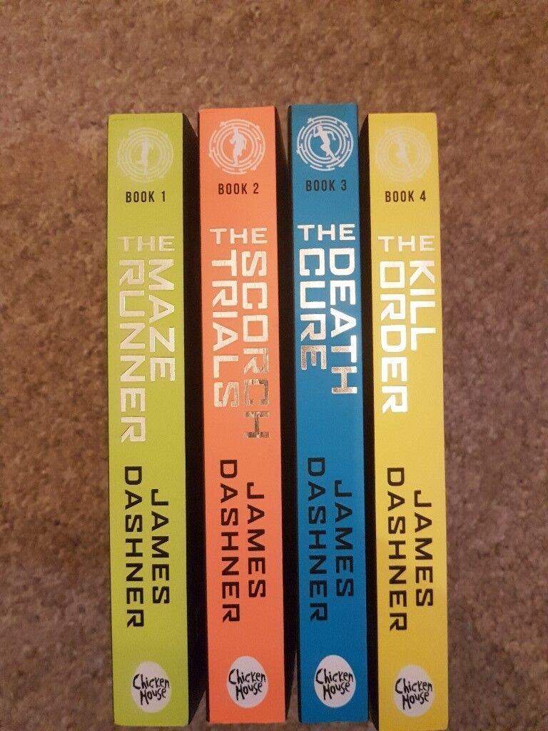 Maze runner books by James Dashner