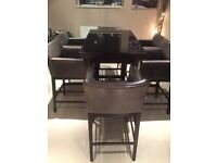 Butchers Block Table and 6 x Chairs/Stools