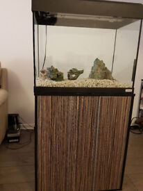 Fluval fishtank 90L . includes cabinet,complete set as seen with some otheraccessories.