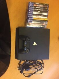 BRAND NEW: PS4 Pro 2TB SSHD, 13 Games, 2 Controllers, 1 Year PS+, Original Accessories Included