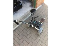 Frazer electric trolley with seat and lithium battery