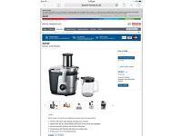Bosch top of range Juicer