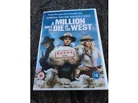 A Million Ways To Die In The West DVD, Brand New