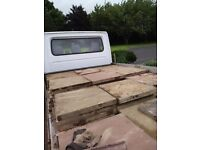 60 paving stones 2x2, pink and buff will sell indevidually £2.50 each poss delivery