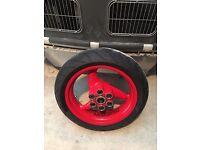 ducati brembo rear wheel 17 x 4.5 (rim + tyre). 502.2.075.1AE