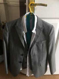 boys grey wedding/prom suit