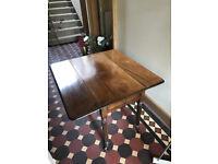 Table, sturdy wood table, dark wood