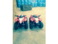 2 50 cc Polaris quad bikes