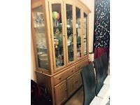 Glass wood living dining room unit cabinet for sale Excellent condition and quality
