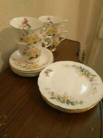 Vintage Wessex cups saucers and small plates