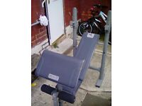 Weights bench in good con with preacher pad