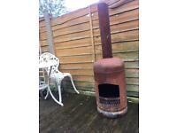 homemade gas bottle chimenea / log burner £25