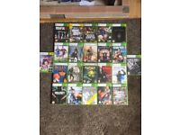 Xbox 360 elite (120GB) with 22 games, 2 controllers and all wires