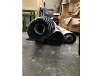 4 rolls of 3 meter wide navy carpet with silver glitter sparkle £30 a roll