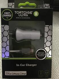 iPhone in car charger top make. Tortoise ultra rrp £20