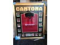 Framed 1996 Manchester United FA Cup Final Shirt - Eric Cantona signed