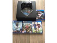 Playstation 4 500gb slim with 5 games and controller like new
