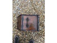 Wooden coal scuttle -traditional design -29cm wide x 48cm deep x 27cm high