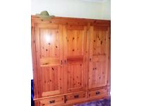 Beautifuly made high quality Lovelace double wardrobe and cupboard area in solid wood