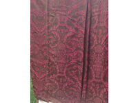 Large Silk Curtains (Thermal & Black-out Lined) 10' 6'' drop