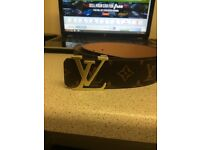 Louis Vuitton Brown Belt LV