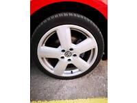 Audi S line alloy 5x112 ET54 with tyres VW Seat genuine
